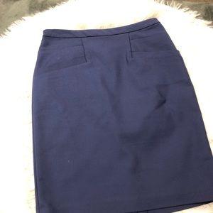 H&M Blue Pencil Skirt  Size 4